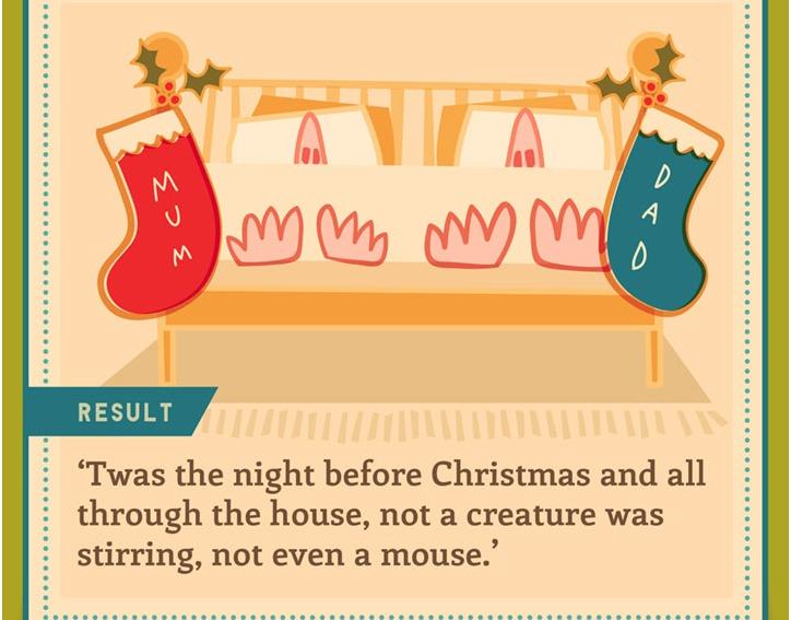 Infographic of sleeping on Christmas eve