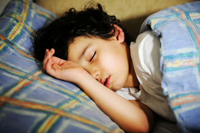An image of a child sleeping