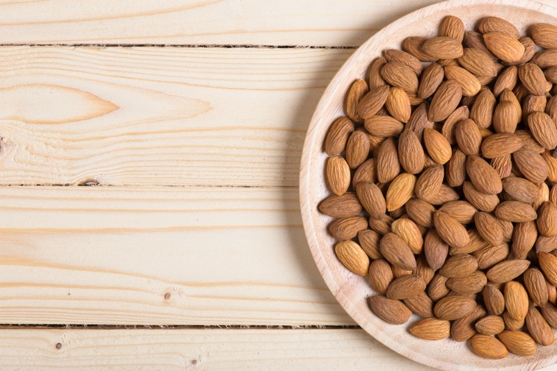 An image of a bowl of almonds