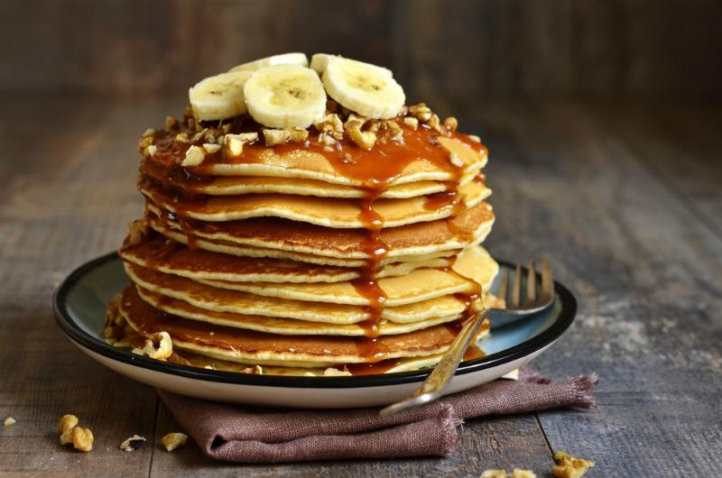 Image of banana pancakes for pancake day