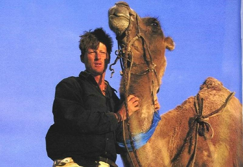 Benedict Allen with camel