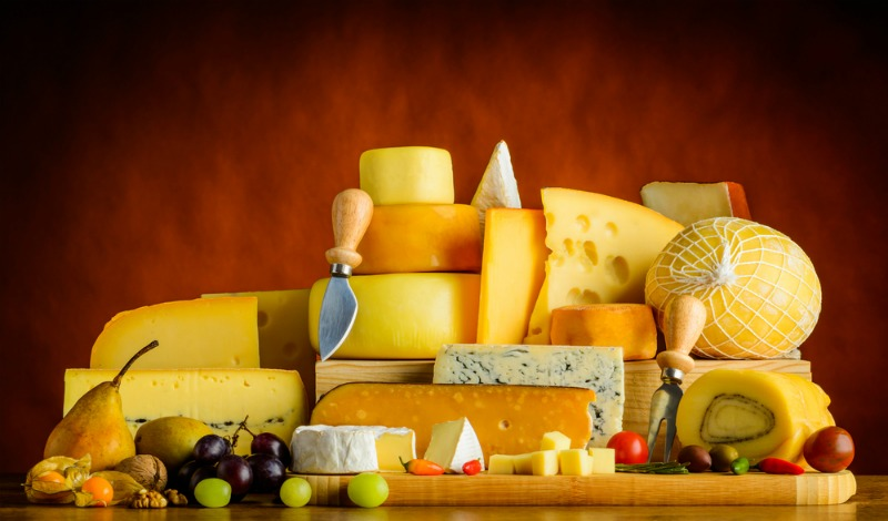 An image of a variety of cheese