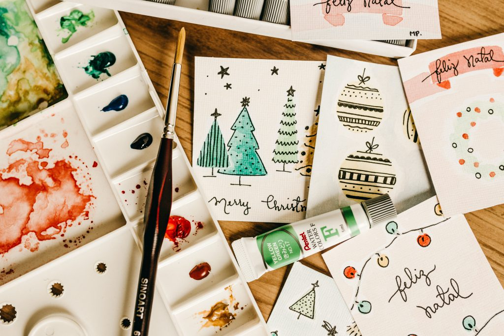 Hand Made Christmas Cards And Craft Equpment
