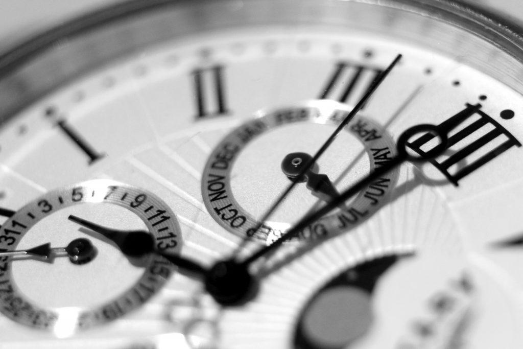 close up of clock