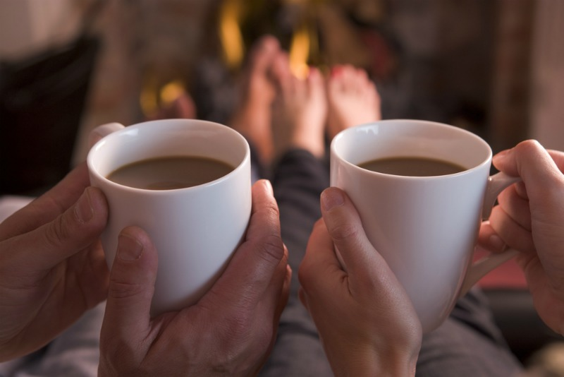 Image of couple drinking coffee