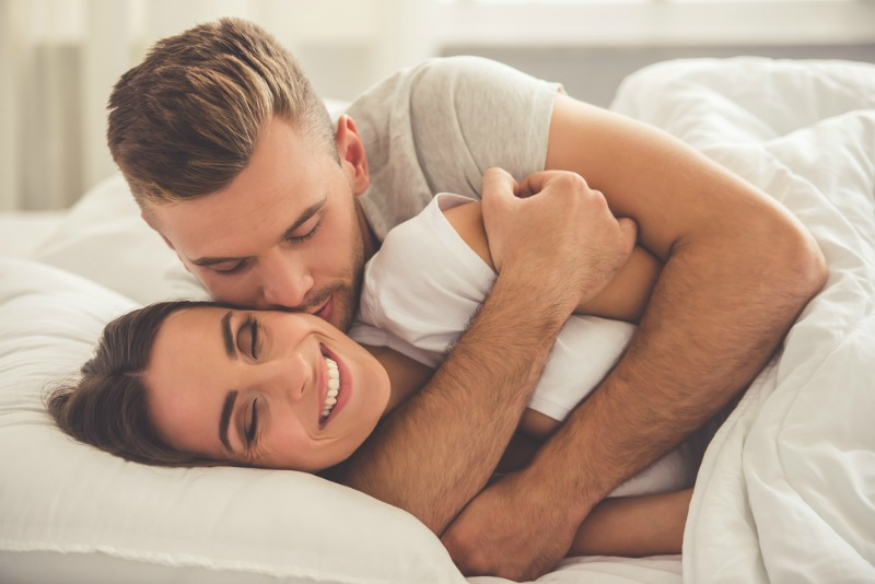Image of couple cuddling