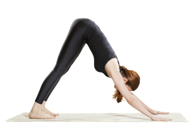 An image showing the downward facing dog pose