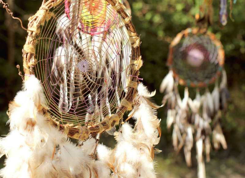 Image of Native American dreamcatchers, sleeping belief and legends object