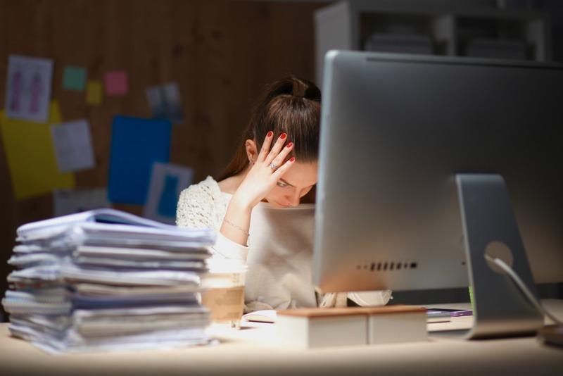 image of a sleep deprived woman