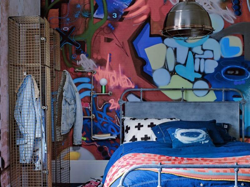 Graffiti teen bedroom design