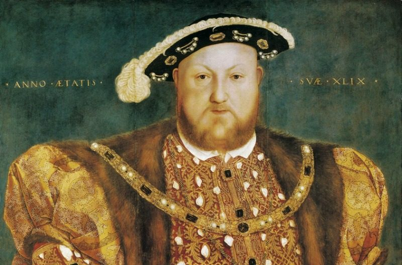 An image of the Hans Holbein painting of Henry VIII