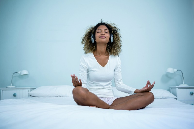 Image of woman meditating