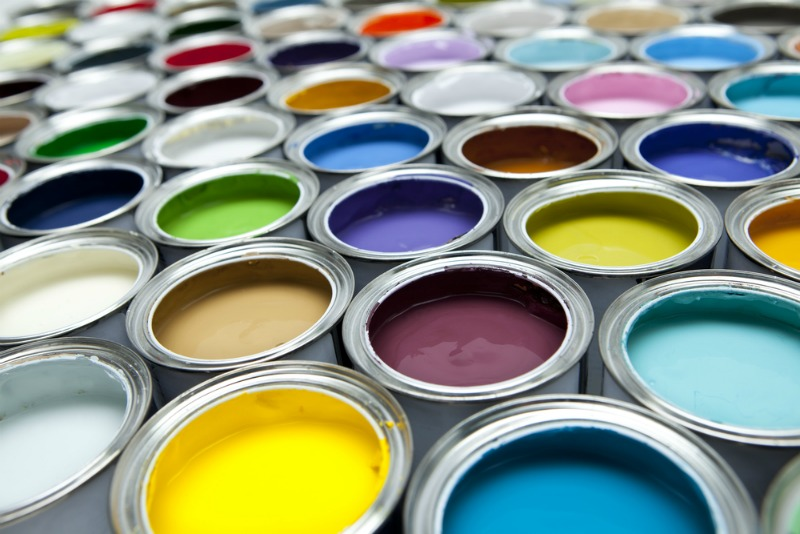 An image of a variety of paint pots