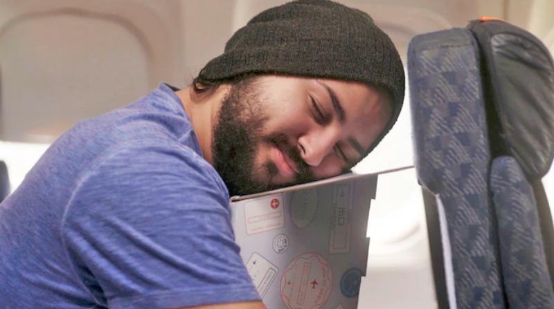 Image of man using PowerSiesta sleep gadgets