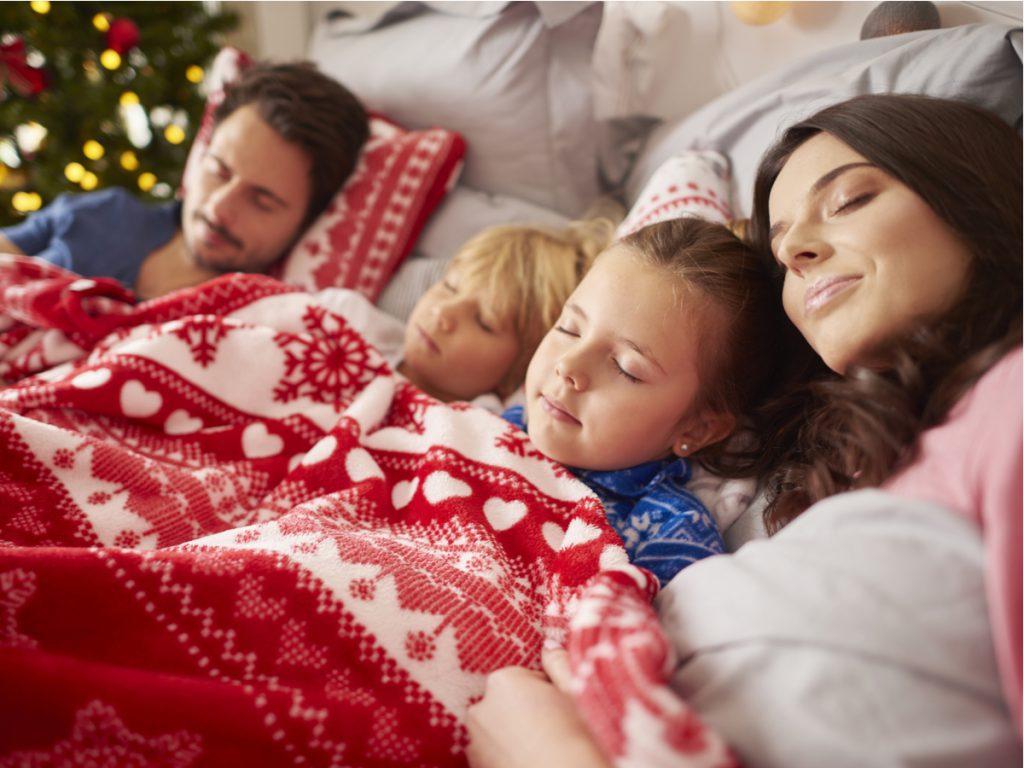 Sleeping Christmas Family