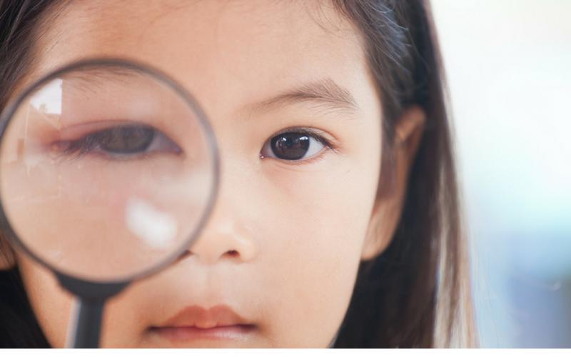 Image of young girl with sore eye