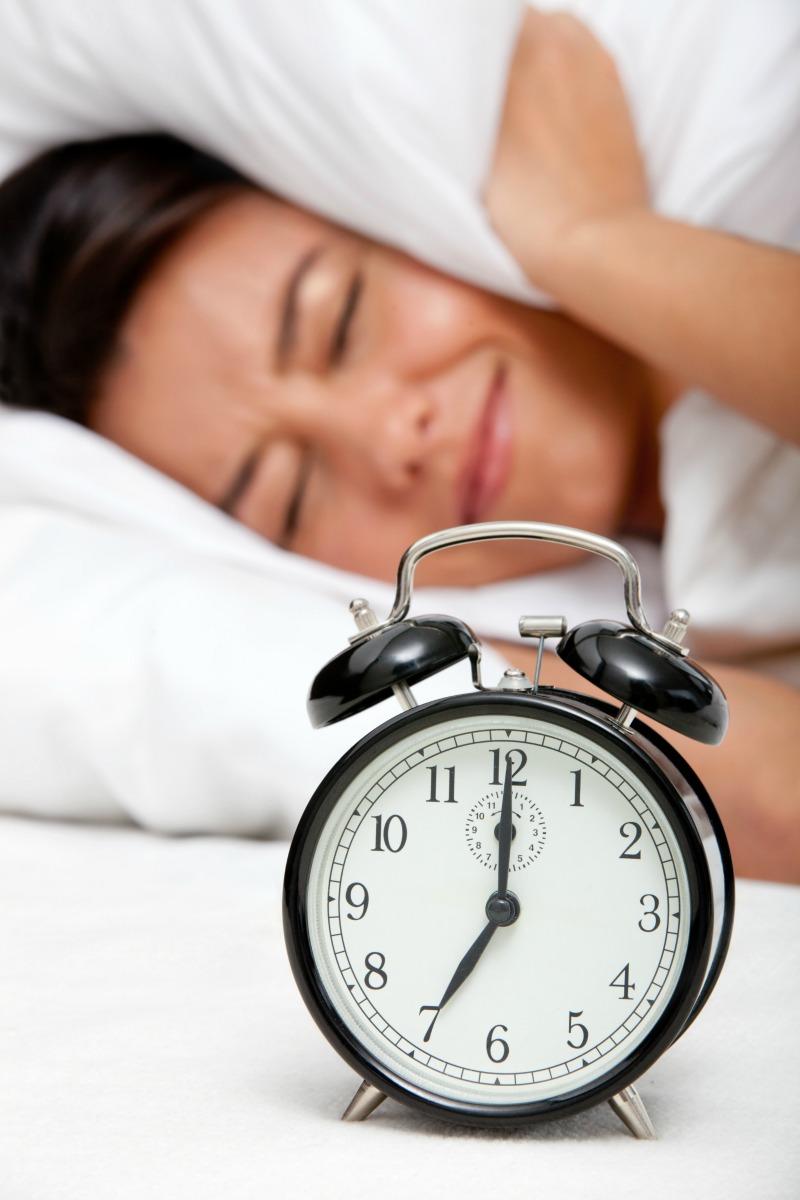 image of woman struggling to wake