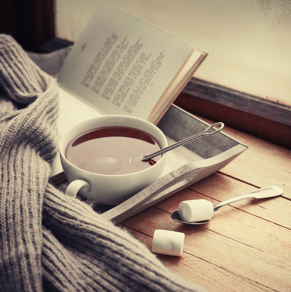Tea, Book and Cosy Socks can help you get out of bed in the morning