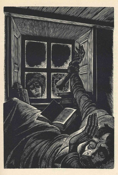 Illustration of Wuthering Heights nightmare
