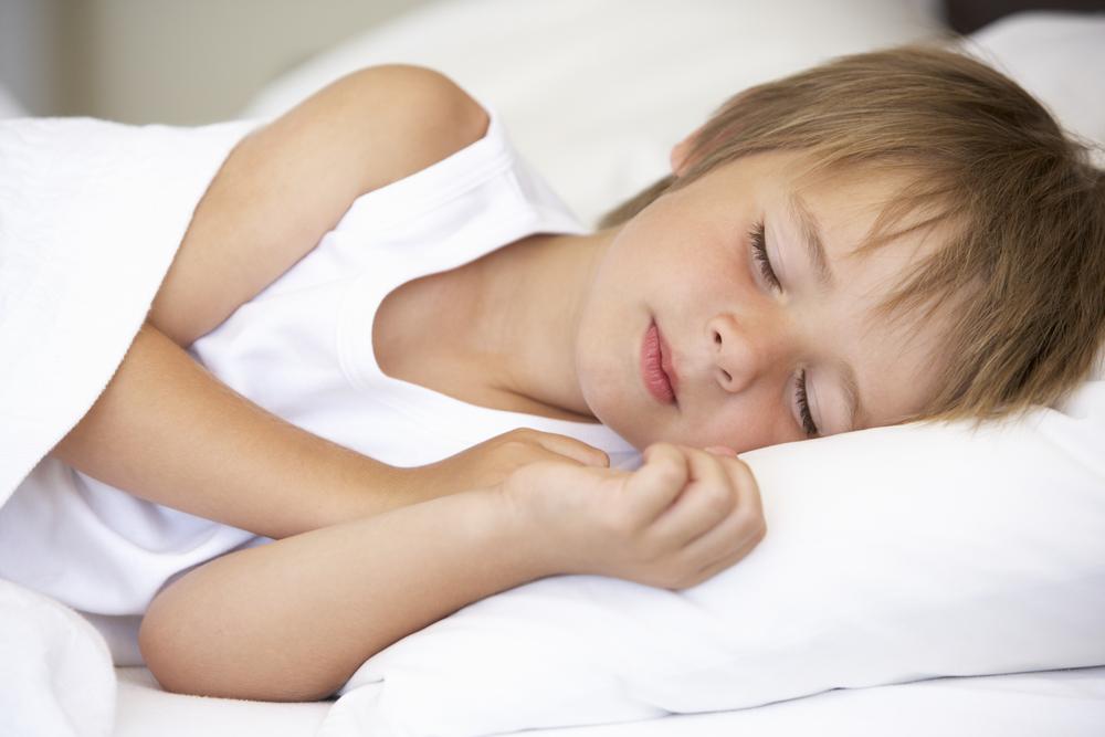 Young boy sleeping peacefully