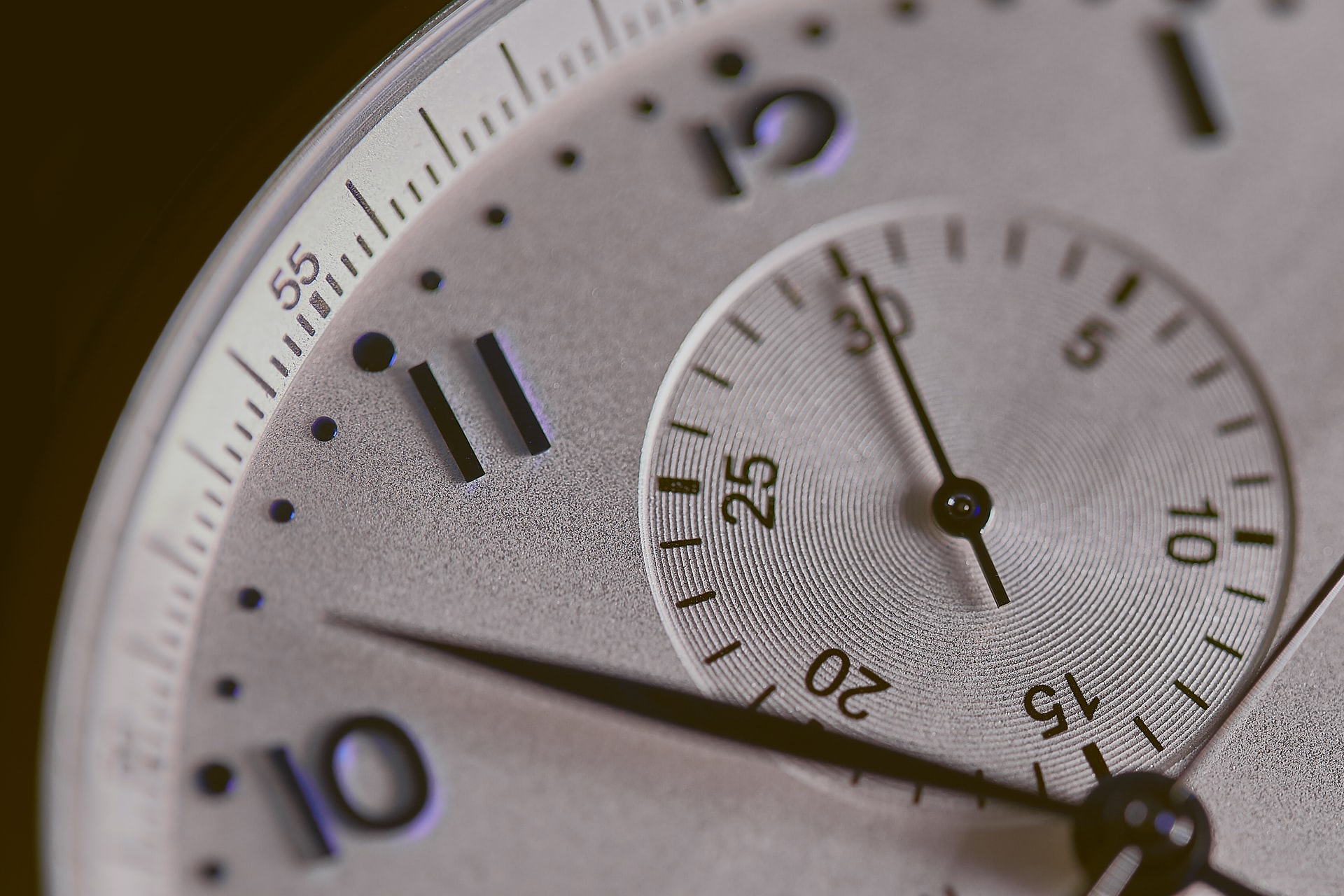 A close-up shot of a clock face