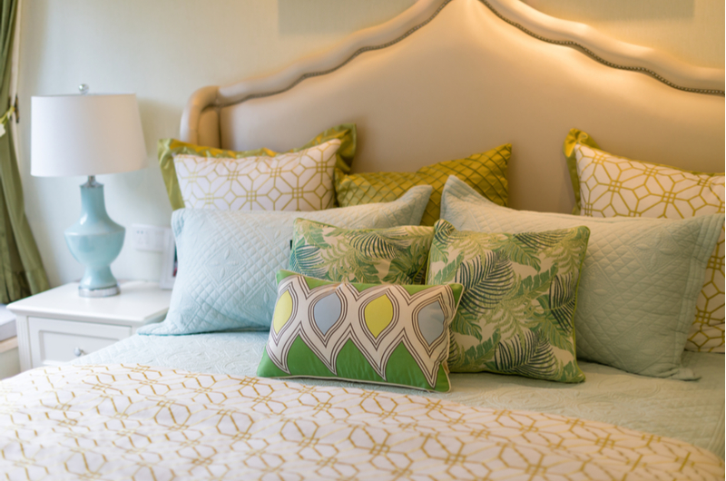 Colour coordinated bedding