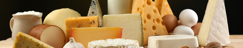 A collection of dairy products.