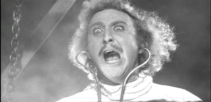 Image of Frankenstein screaming