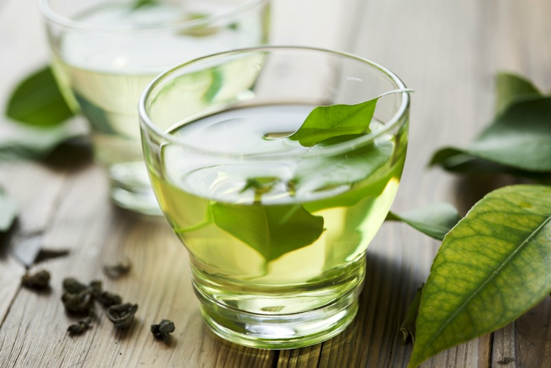An image of green tea to help reduce anxiety