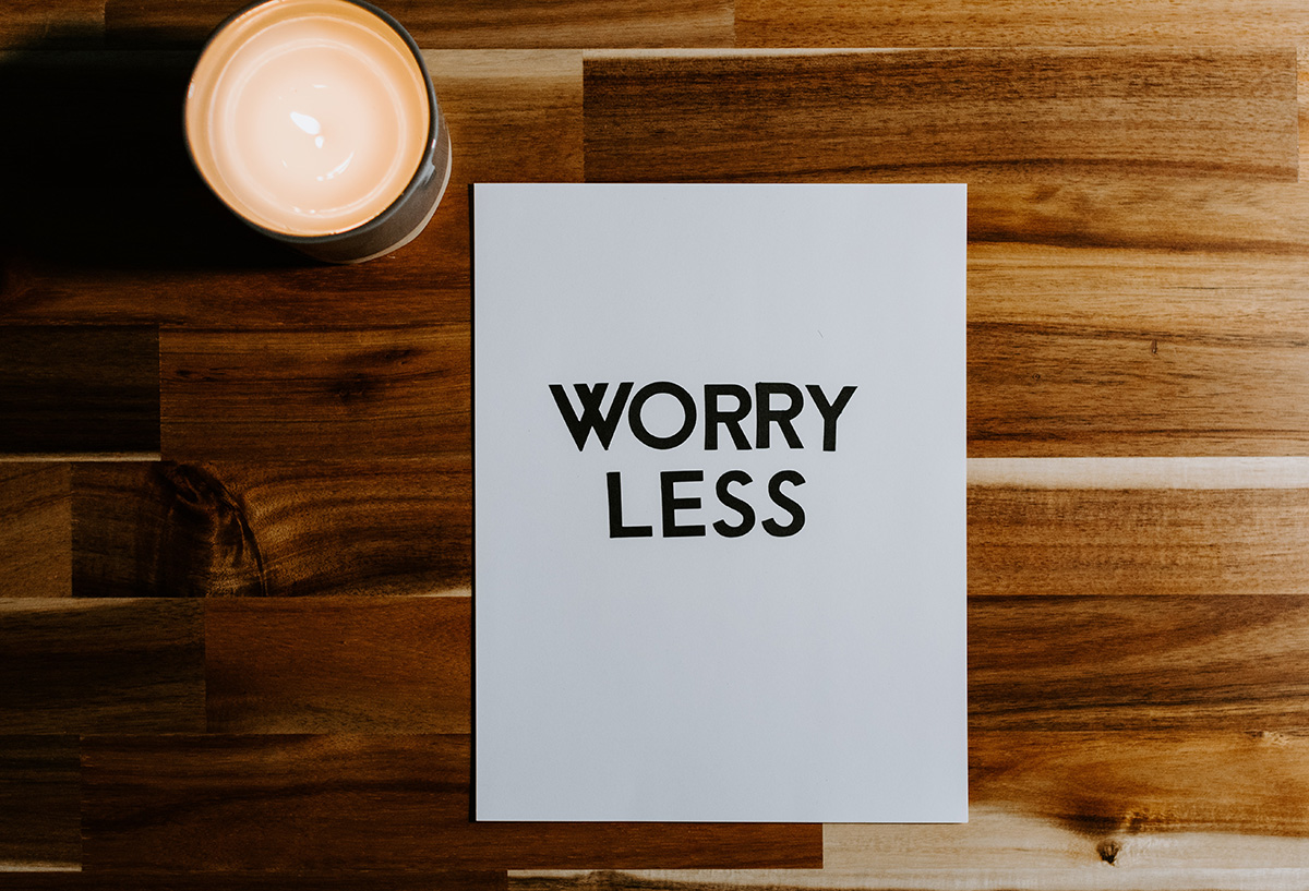 worry less image to show hypnosis for anxiety
