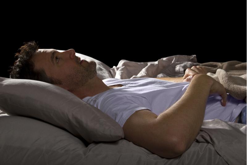 man awake after a night terror