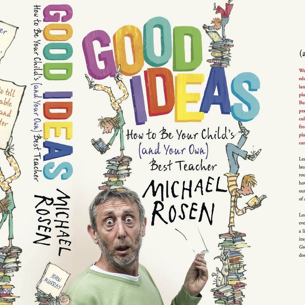 Michael Rosen is author of Good Ideas: How to be Your Child's (and Your Own) Best Teacher. On The Sleep Matters Club, he talks about the importance of bedtime stories.
