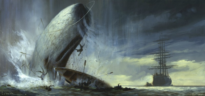 Nightmarish image from Moby Dick