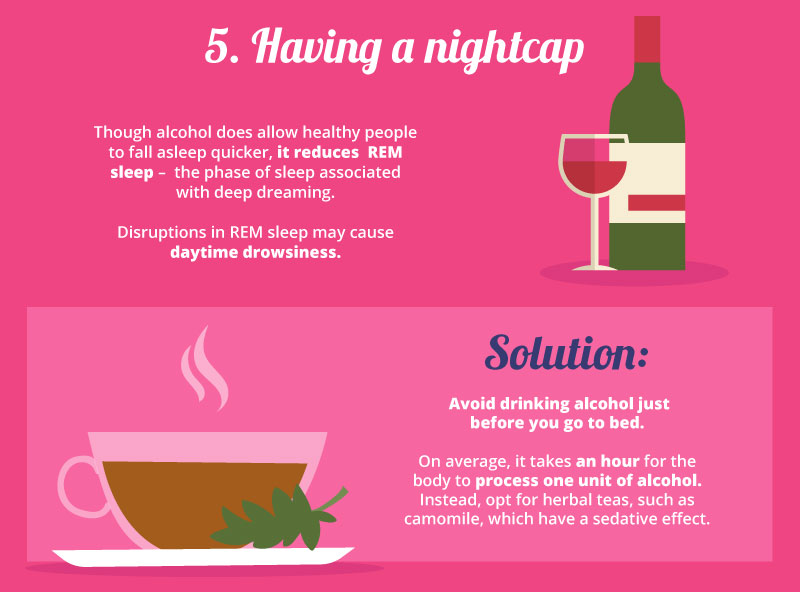 Nightcaps are one of our seven sleep mistakes. Click the image for the rest.