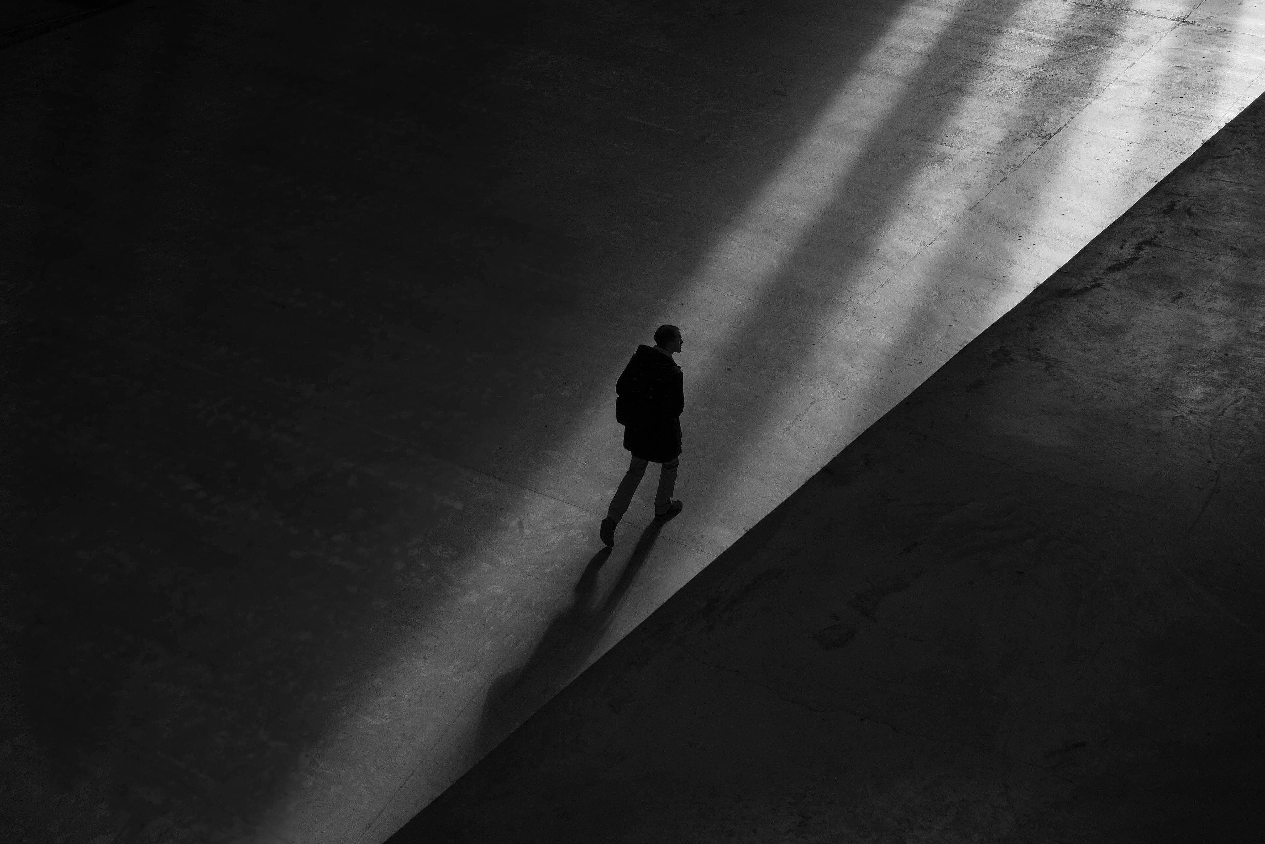 man walking to show sleep walking