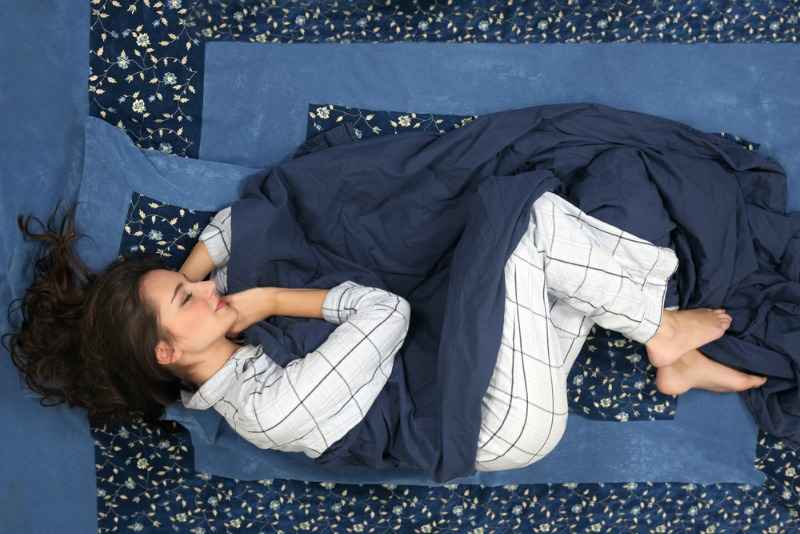 Most people sleep in the foetal position