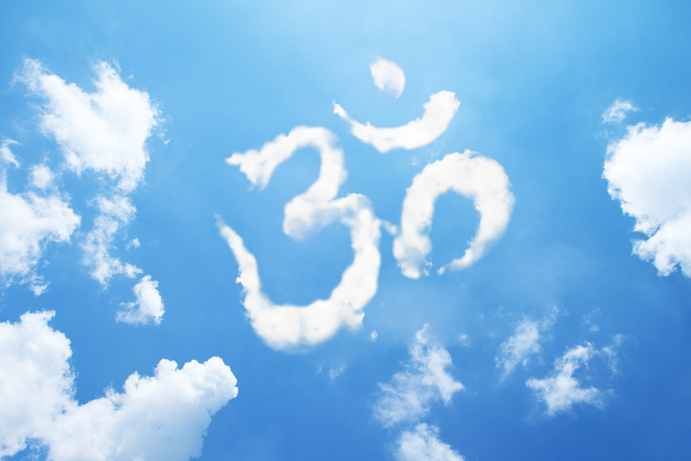 Mantra shape cloud in the sky