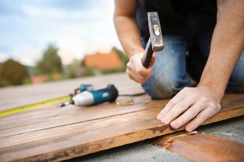 Image of a man doing DIY wrok