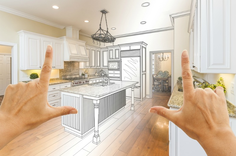 Image of a kitchen being designed for home renovation