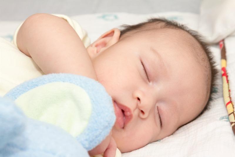 Image of a baby sleeping