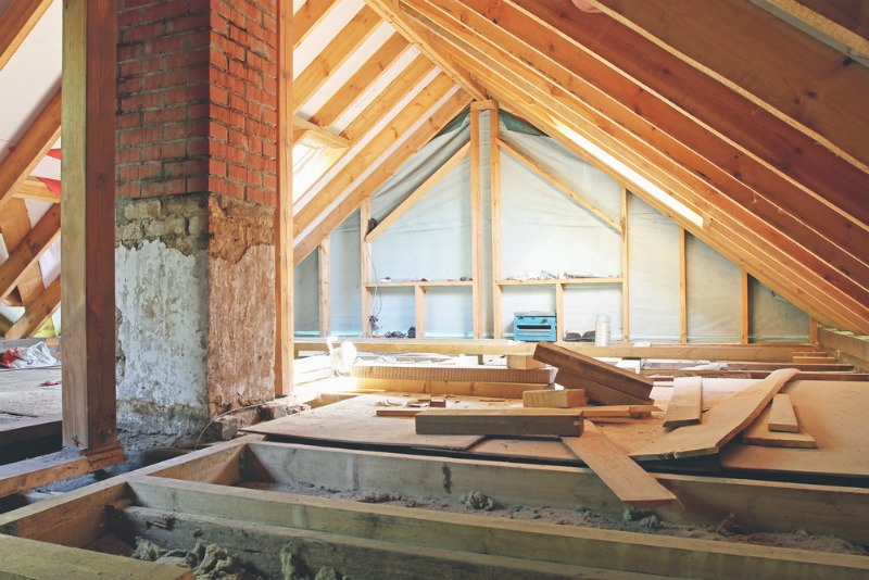 Image of a loft being renovated