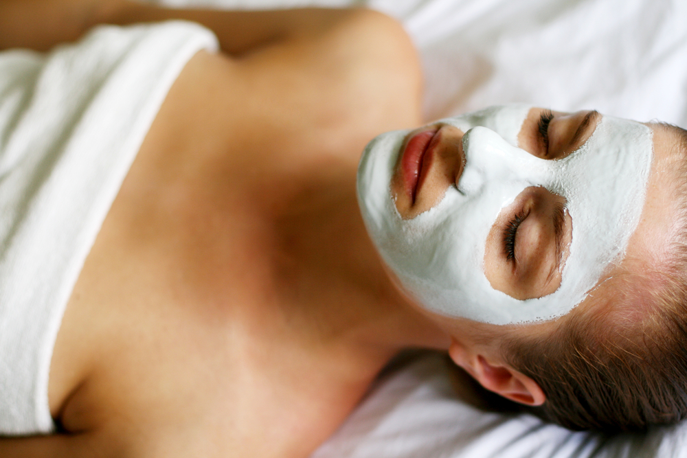 Image of woman having mask skin treatments