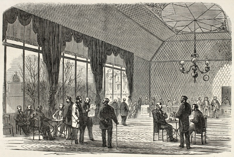 Illustration of Curtains in Paris Palace