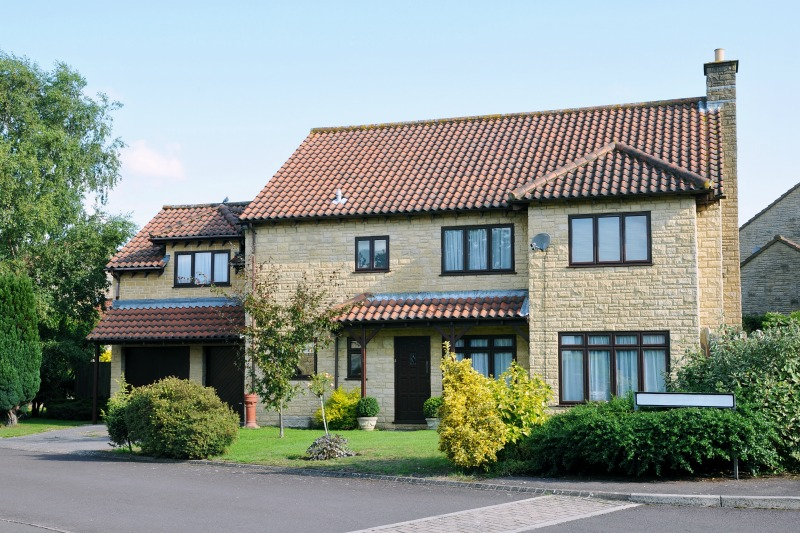 Image of a typical English home exterior