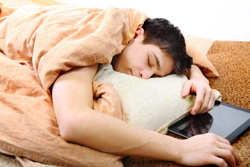 The circadian rhythm of teenagers changes dramatically, making them more awake at night.