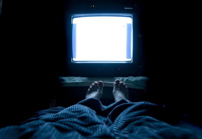 TV on in bedroom