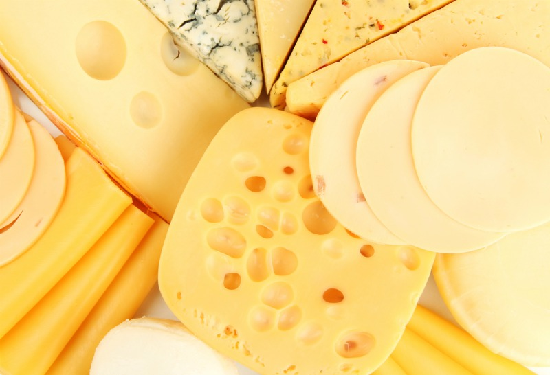 An image showing a variety of cheeses