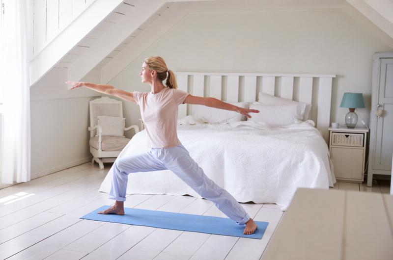Image to show yoga as a sleep goal