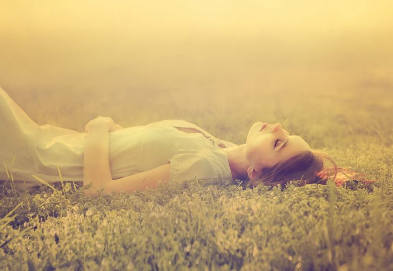 An image of a woman dreaming, cheese and dreams