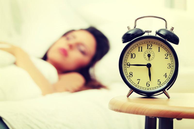 Alarm clock on the morning when clocks go forward